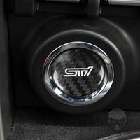 Engine Start Stop Button Sticker Unique Parts Portable Carbon Fiber Cover Cap Car Ornaments for Subaru BRZ 2013-2019