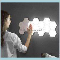 1 stücke Quantum Lampe LED Lampe modular berührungsempfindliche Belege Sechseckige Nachtlicht Lampen Wand Sechseckige Wandleuchte Nuro8 vroy2