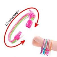 ファッションパーティーカラーフィジット感覚玩具人格7.5インチ子供のジッパーブレスレットアクセサリー卸売