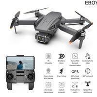 Drohnen Eboyu G21 GPS-Drohne Brushless 5g WiFi FPV 4k HD-Kamera-Rücksende Dual-Kamer Optische Strömung faltbar RC Quadcopter Spielzeug RTF