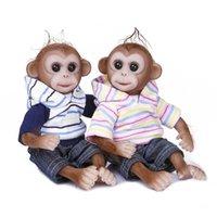 DecDeal 20cm Baby Doll Monkey Baby Mini Pouces Lifeelike Reborn Baby Monkey fait main peinture détaillée Dolls