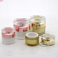 2020 Nuovo 10g 30g oro rosa Vuoto Spray Vuoto Acrilico Cream Cream Jar Cosmetici Contenitore Cosmetico Bottiglia Eye Cream Cosmetici Packaging BottleHigh Quality