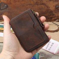 Wallets Kweco Vader Genuine Leather Wallet Women 2021 Arrvial Crazy Horse Men Mini Coin Purse Holder1