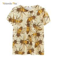 YOLANDA PAZ mais recentes homens / mulheres camisetas de boa qualidade Moda Respirável Conforto Bee Bee Manga Curta O-Pescoço Tops Tees 210306