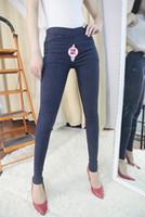 Брюки открытый секс женщины сексуальная одежда леггинсы женские открытые промежности джинсы тощий джинсовые брюки сексуальные экзотические костюмы F D6D8