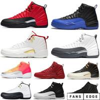 Высочайшее качество мужские баскетбольные туфли 12 Франция синий красный такси темно-серые 12s мужчины кроссовки женщин спортивные кроссовки размером 7-13