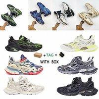 2021 Hohe Qualität Männer Frauen Track 4.0Sport Schuhe Triple S Black Vergleichen Sneaker Green Fashion Trainer 18ss Ähnliche Designer 370J #