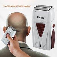 KEMEI KM-3382 Afeitadora eléctrica profesional para hombre Clipper portátil para cabello USB Razor inalámbrico para niños y adultos