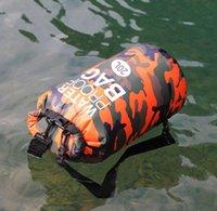 Saco de água de camo dobrável portátil 20L 3ol sacos impermeáveis secos de armazenamento para canoa Kayak Rafting Esportes Equipamento de Camping ao ar livre Kit de viagem