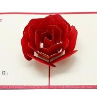3D розовые поздравительные открытки День Святого Валентина поздравительные открытки Creative Handmade Валентина подарки для женщин NHA6249