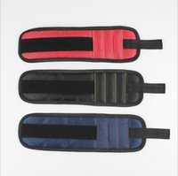 磁気リストバンドポケットツールベルトポーチバッグネジホルダー保持ツール磁気ブレスレット実用的な強力なチャックリストツールキットYYA784