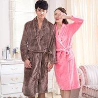 Women's Sleepwear Robe Flannel Pajamas Winter Bathrobe Pyjamas Autumn And Warm Coral Bath Velvet Suit Badjas Female Robes 2021
