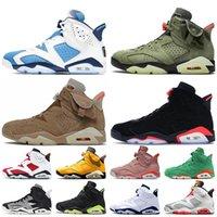 Nike Air Jordan 6 Retro 6 Travis Scott 6s 2020 stock x Jumpman Kadınlar Erkek Basketbol Ayakkabı Hare Retro Tech Krom Quai 54 Eğitmenler Spor ayakkabılar