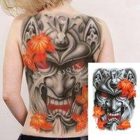 Mujer llena de espalda temporal etiqueta temporal tatuajes de serpiente tigre dragón tinta color cuerpo grande impermeable tatuaje jesús espalda grande tatuaje