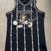 2021 Niedrige Männer Retro Retro Classic Basketball Jersey Tracy 1 McGrady Black Gold Mesh Stickerei Vintage Atmungsaktive Shorts Größe S-2XL