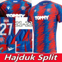 21/22 Hajduk Split Jerseys de futebol 2021 2022 Simic Livaja Vuskovic Bluk Eduuok Camisas de futebol Homens Top Tailândia Qualidade Maillot de pé