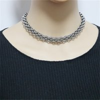 Ms Necklace Hip Stainless Watch Chain Punk Hop Disco Hoop Handmade Titanium Steel Necklace for Men and Women