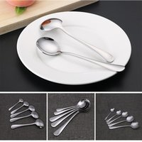 Spoons Round Soup For Kids Aduls Stainless Steel Dishwasher Safe Spoon Dessert Mixing Tableware