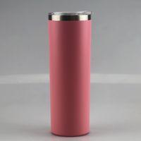 Nuevo 20 oz en polvo con recubrimiento flaco con flaco 20 opciones de colores delgado de doble pared de acero inoxidable de acero inoxidable botella de café mate marítimo envío zze5180
