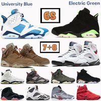 أعلى 6 6S الجامعة الأزرق 7 7S الرجال أحذية كرة السلة 8 8S بوردو الكهربائية الأخضر UNC DMP باريس أوليمبيك جنوب شاطئ رجالي أحذية رياضية