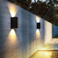Outdoor Wall Lamps Modern LED Light IP65 Waterproof Aluminum Black Porch Garden Villa Exterior Lamp Sconce Luminaire