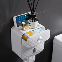 Soporte de rollo de inodoro Topes de papel impermeable Toalla de papel Montado en pared WC Rollo de papel Estuche de papel Caja de almacenamiento Tubo Accesorios de baño 71 S2