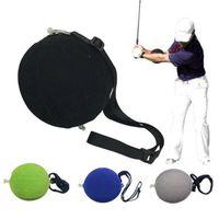 PVC espuma prática de golfe bola inflável impacto bola balanço treinador postura arco-íris esponja indoor taptura de golfe acessórios 183 x2