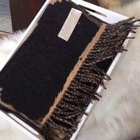 Luxe Merk Heren Mode Sjaal Designer Hoofdband Klassieke Sjaals Hoge Kwaliteit Mink Velvet Material Maat 35 * 180cm
