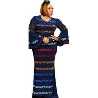 Ropa de África Vestido largo musulmán Moda de alta calidad Vestido Maxi para Lady Diamonds Vestidos africanos para mujeres Primavera Otoño