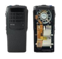 Walkie Talkie Housing Repair Repair Front Black Case Kit para Motorola HT750 W Altinante Duas Way Radio