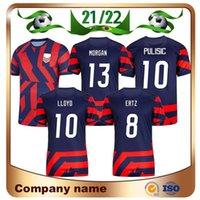 2021 America US Soccer Jerseys 20/21 Lavelle Lloyd Rapinoe Krieger Camicia United States Pulisic ERTZ Calcio uniforme