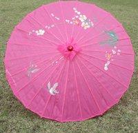 مظلات 50 قطع الملونة رسمت باليد الحرير الحرير مظلة الصينية مظلة للعروس بالجملة
