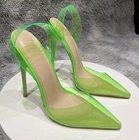 Luxury Brand Designer Shoes Women Red bottoms High Heels 8cm 10cm 12CM Plus size euro45 Pointed Toes pumps wedding shoe Dress Sandals soft bottom sexy transparent PVC