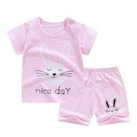 ZWY795 Tasarımcı Yaz Erkek Bebek Giyim Setleri Toddler Kız Spor Takım Elbise Çocuklar Rahat Kıyafetler Kaliteli Pamuk Takım Elbise 210706
