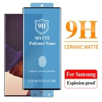 Matte Soft Ceramic Screen Protectors For Samsung Galaxy Note 20 S20 S21 Ultra S9 S8 S10 Plus Note 10 Plus 9 8 Film Tempered Glass