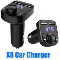 168D x8 FM 송신기 AUX 변조기 블루투스 핸즈프리 자동차 키트 자동차 오디오 MP3 플레이어 3.1A 빠른 충전 듀얼 USB 자동차 충전기 액세서리