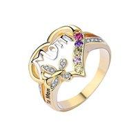 2021 Muttertag Ring Geschenk für Mom Buchstaben Ring Trendy Valentinstag Frauen Mädchen Geburtstag Festival Geschenk Ringe Geschenke Schmuck G30102
