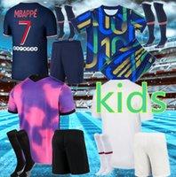 20 21 축구 유니폼 MBappe 2021 Icardi Neymar JR Kimpembe 세트 유니폼 Maillot de Foot Hommes enfants 키트 키트