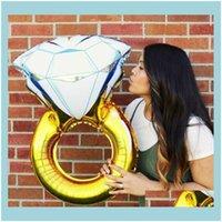 참신 GAG 장난감 GIFTSNT 다이아몬드 약혼 반지 헬륨 호일 Mylar 풍선 결혼식 제안 신부 샤워 파티 32 및 43 인치 C124 DR