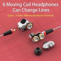 Original 6 Units Balanced Earphones 3 Dynamic Driver Speakers HIFI Bass fone de ouvido auriculares Detachable Sports Headset