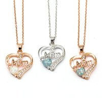 Pendant Necklaces Seanlov Silver Color Women Pendants With Heart Shape Opal Stone Fashion Jewelry Gift For Love Mom