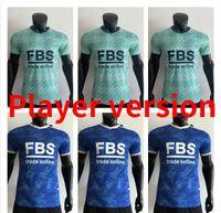 Jugador versión 21 22 Vardy Leicester Soccer Jerseys Daka Iheanacho Camisetas de fútbol Ndidi Tielemans Barnes 2021 2022 Ayoze Maddison Community Shield B. Soumare