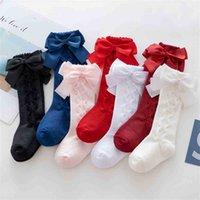 2021 Autunno Inverno Baby Gries Cute Bow Socks Fashion Bambini Principessa Medio Medio Calzini 0-3 anni Abito Sosks Party Christmas Candy Colors Calze G9838UQ
