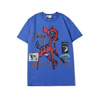 2021 Nouvelle broderie Red Deer T Shirt Hommes Femmes Mode Mode Summer BB Casual Street T-shirt Off Designer C P T-shirt Grossiste