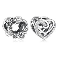 FIT Original Pandora Charms Braccialetto Sterling 925 Silver Silver Bracedined Hearts Hearts Beads Perline Donne Gioielli fai da te Fare Berloque
