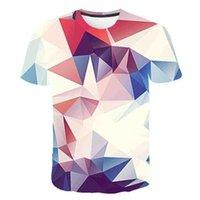 T Shirt Geometrica Geometrica Astratto colorato Abbigliamento da uomo Abbigliamento da uomo 3D Stampa digitale manica corta Tees Polosa Coquids Leggings e Abiti