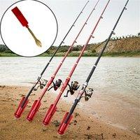 Caña de pescar Soporte Pole Soporte Enchufe Insertar Tierra Ajustable Herramienta Herramienta de Pesca Portador Portador Soporte Stand Angle Gadget