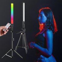 Flash Heads RGB Light Stick Wand With Tripod Stand Party Colorful LED Lamp Fill Handheld Speedlight Pography Lighting Video