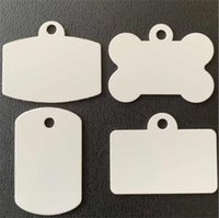 Dog Tag sublimation ID Card white blank aluminum tags pet ornaments Wholesale ship by fedex A13