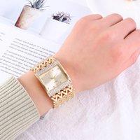 디자이너 럭셔리 브랜드 시계 드롭 배송 여성용 스테인레스 스틸 골드 여성 다이아몬드